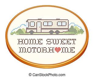 Home Sweet Motorhome Embroidery