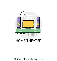 Home Teater Audio System TV Devices Icon