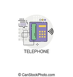Home Telephone Line House Equipment Icon