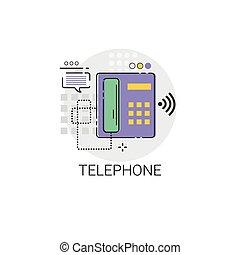 Home Telephone Line House Equipment Icon