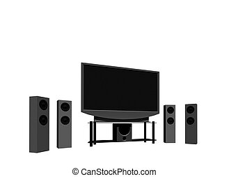 home theater / high definition television with speakers