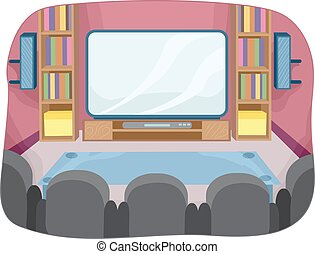 Home Theater Room Interior