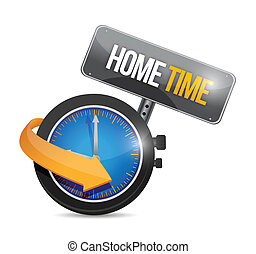 home time watch illustration design