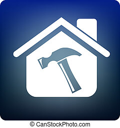 Home tools - Hammer inside a house