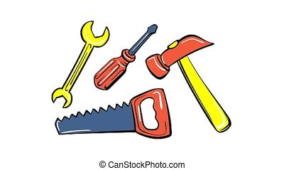 Home toy tool icon animation best on white background for any design