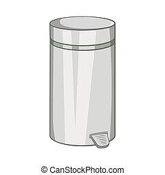 Home trash icon, cartoon style