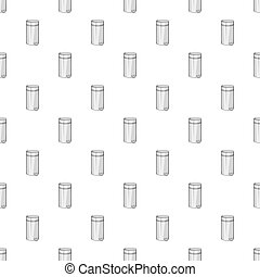 Home trash pattern, cartoon style
