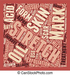 Home Treatments for Stretch Marks text background wordcloud concept