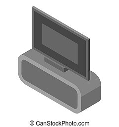 Home tv icon, isometric style