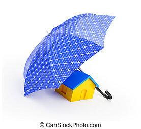 home umbrella solar panel