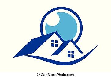 home vision logo vector