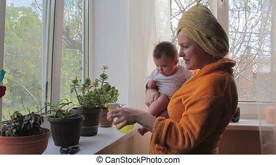 home., vrolijke , het geven, houseplants, mamma, baby