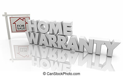 Home Warranty Guarantee Insurance Policy Sign 3d Illustration