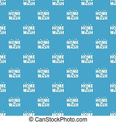Home wash pattern vector seamless blue