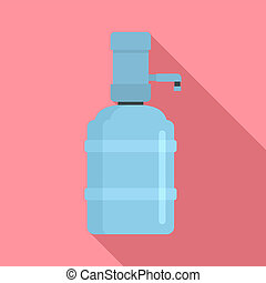 Home water dispenser icon, flat style