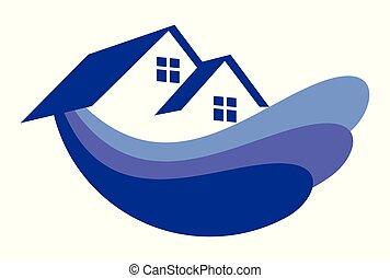 home wave logo vector