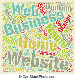 Home Web Business Made Easy text background wordcloud concept