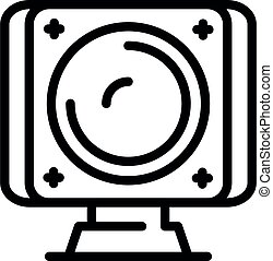 Home web camera icon, outline style