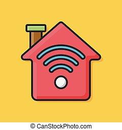 home wireless icon