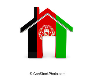 Home with flag of afghanistan