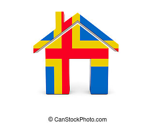 Home with flag of aland islands
