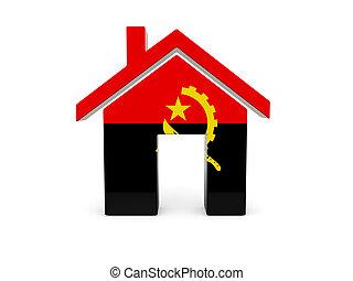 Home with flag of angola