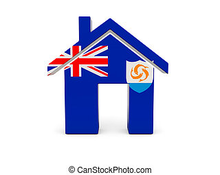 Home with flag of anguilla