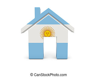 Home with flag of argentina