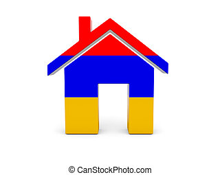 Home with flag of armenia