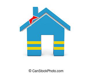 Home with flag of aruba