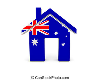 Home with flag of australia