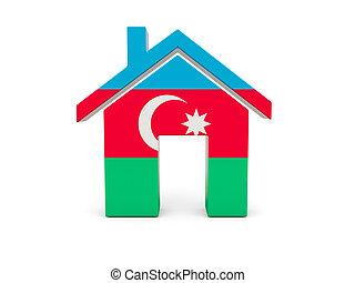Home with flag of azerbaijan