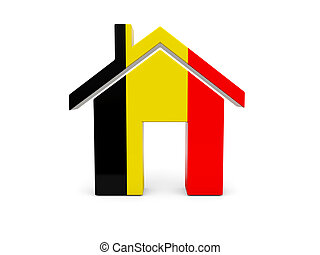 Home with flag of belgium