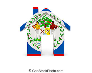 Home with flag of belize