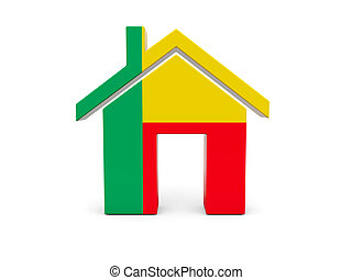 Home with flag of benin