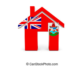 Home with flag of bermuda