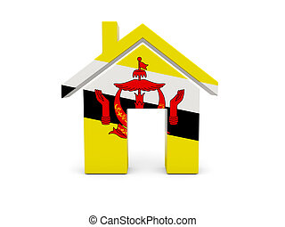 Home with flag of brunei