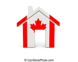 Home with flag of canada
