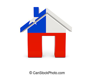 Home with flag of chile
