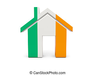 Home with flag of ireland