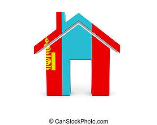 Home with flag of mongolia