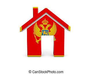 Home with flag of montenegro