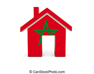 Home with flag of morocco