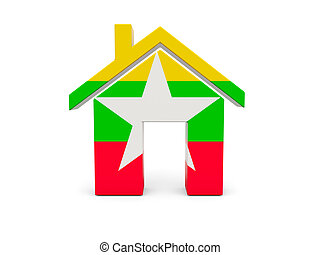 Home with flag of myanmar