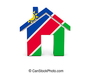 Home with flag of namibia