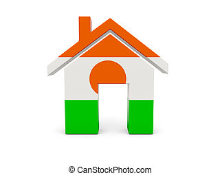 Home with flag of niger