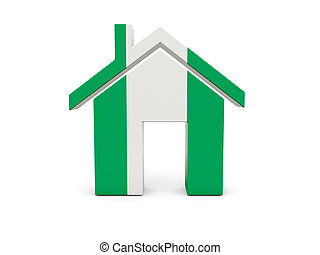 Home with flag of nigeria