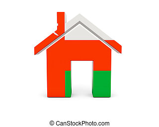 Home with flag of oman