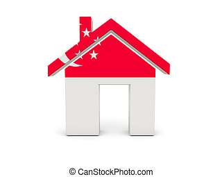 Home with flag of singapore
