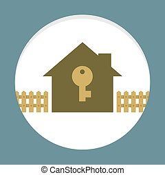 Home With Key Property Concept Card
